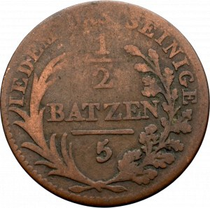 Szwajcaria, 1/2 batzen 1809 Appenzell