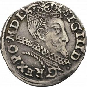 Zygmunt III Waza, Trojak 1601 Poznań - przebitka inicjału F na P