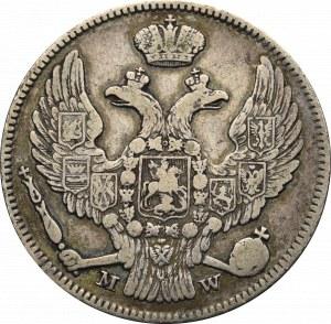 Zabór rosyjski, Mikołaj I, 15 kopiejek=1 złoty 1837 Warszawa