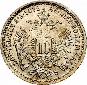 Austro-Węgry, Franciszek Józef, 10 krajcarów 1872