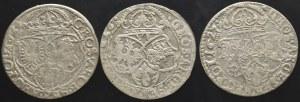 Zygmunt III Waza, zestaw szóstaków 1624-1627 (3 sztuki)