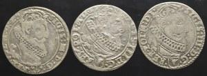 Zygmunt III Waza, zestaw szóstaków 1625-1627 (3 sztuki)