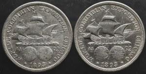 USA, zestaw 1/2 dolara 1893 (2 sztuki)