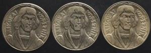 PRL, zestaw 10 złotych Kopernik 1967-1968 (3 sztuki)