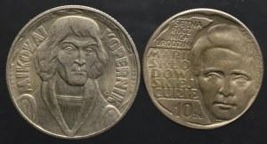 PRL, zestaw 10 złotych 1959-1967 (2 sztuki)