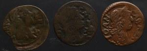 Jan II Kazimierz, zestaw falsyfikatów z epoki szelągów + szeląg 1664 (3 sztuki)