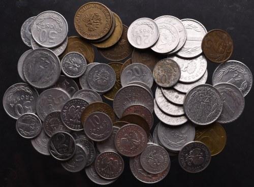 PRL, ciekawy zbiór monet (68 egz)