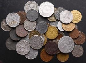 Niemcy/Austria, zbiór monet (51 egz)