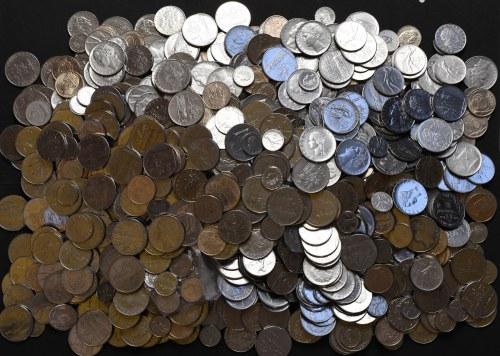 Włochy, duży zbiór monet - różne roczniki i nominały (ok. 6 kg)