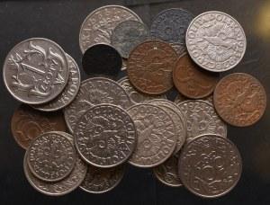 II Rzeczpospolita, zestaw drobnych monet
