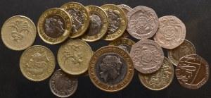 Wielka Brytania, zbiór obiegowych monet
