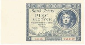 II RP, 5 złotych 1930 Ser. DK.