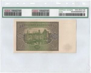 PRL, 500 złotych 1946 H - GDA 64EPQ