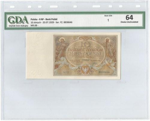II RP, 10 złotych 1929 FZ - GDA 64EPQ