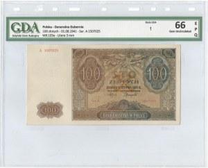 GG, 100 złotych 1941 A - GDA 66EPQ