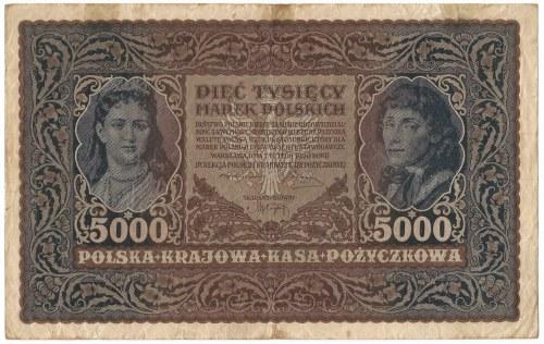 5000 marek polskich 1920 III Serja B