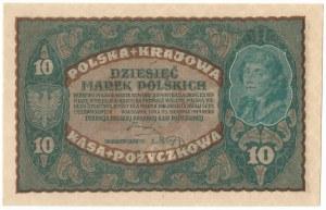 II RP, 10 marek polskich 1919 II SERJA BJ