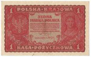II RP, 1 marka polska 1919 I SERJA JM