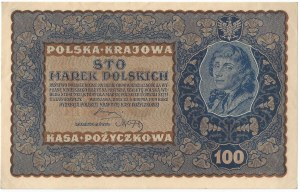 II RP, 100 marek polskich 1919 IH SERJA F