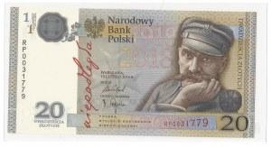 III RP, 20 złotych 2018 Piłsudski