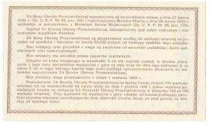 3% Bon Obrony Przeciwlotniczej na 20 złotych 1939