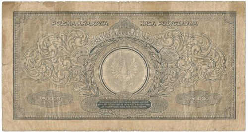 II RP, 250 000 marek polskich 1923 AR - numeracja szeroka