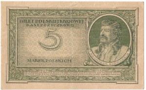 II RP, 5 marek polskich 1919 G
