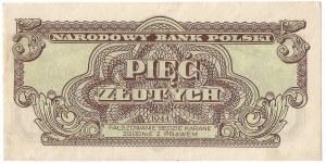 PRL, 5 złotych 1944 - owe YM