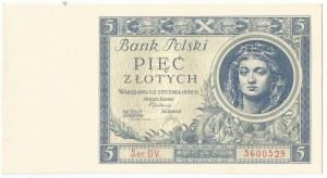 II RP, 5 złotych 1930 Ser. DV