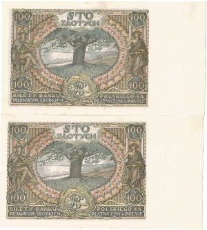 II RP, zestaw 100 złotych 1934 BO i BG