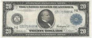 USA, 20 dolarów 1914, seria 7-G