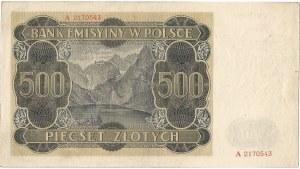 GG, 500 złotych 1940 A