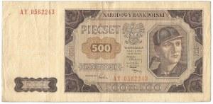 PRL, 500 złotych 1948 AY