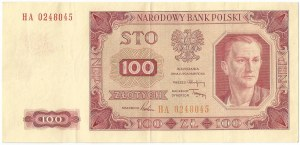 PRL, 100 złotych 1948 HA