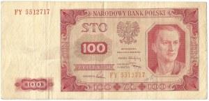 PRL, 100 złotych 1948 FY - bez ramki