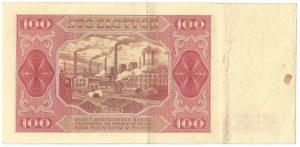 PRL, 100 złotych 1948 - GP bez ramki