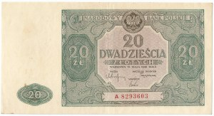 PRL, 20 złotych 1946 A