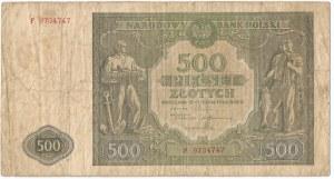 PRL, 500 złotych 1946 F