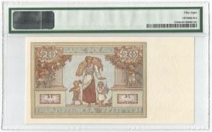 II RP, 20 złotych 1931 DW - PMG 58