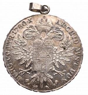 Austro-Węgry, Maria Teresy, Talar 1780 nowe bicie zawieszka