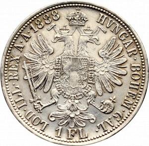 Austria, Franciszek Józef, 1 floren 1888