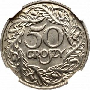 II Rzeczpospolita, 50 groszy 1923 - NGC MS66