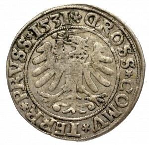 Zygmunt I Stary, Grosz dla ziem pruskich 1531, Toruń - PRVS/PRVSS