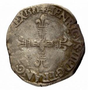 Francja/Polska, Henryk III Walezy, 1/4 ecu 1581