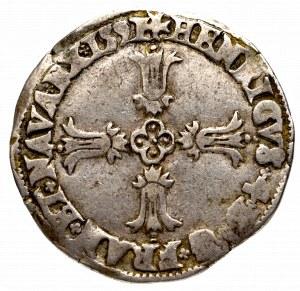 Francja, Henryk IV, 1/4 ecu 1591