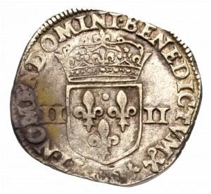 Francja, Henryk IV, 1/4 ecu 1599