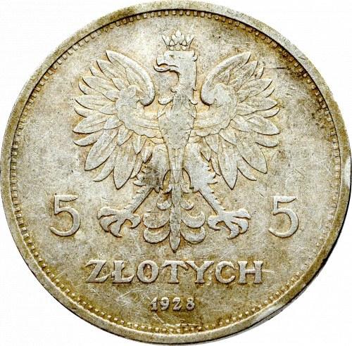 II Rzeczpospolita, 5 złotych 1928 Nike ZZM