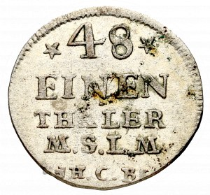 Niemcy, Fryderyk II, 1/48 talara 1754