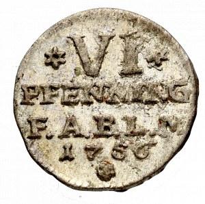 Niemcy, Fryderyk, 6 fenigów 1756, Anhalt