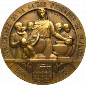 Francja, Medal na 100-lecie CAISSE D'ÉPARGNE DE ST MALO
